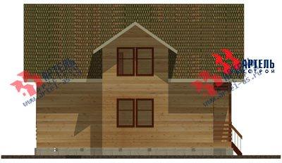 двухэтажный дом из профилированного бруса площадью от 150 до 200 кв. м. с  балконом, мансардой, эркером, проект Вариант 11 И фотография 1435
