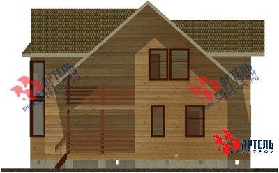 двухэтажный дом из профилированного бруса площадью от 150 до 200 кв. м. с  балконом, мансардой, эркером, проект Вариант 11 И фотография 1436