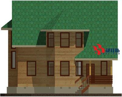 двухэтажный дом из бруса площадью свыше 200 кв. м. с  балконом, мансардой, террасой, эркером, проект Вариант 14 Б фотография 1486