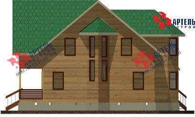 двухэтажный дом из бруса площадью свыше 200 кв. м. с  балконом, мансардой, террасой, эркером, проект Вариант 14 Б фотография 1487