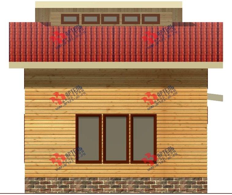 двухэтажный дом из бруса площадью до 100 кв. м. с  мансардой, проект Вариант 7 Л фотография 2166