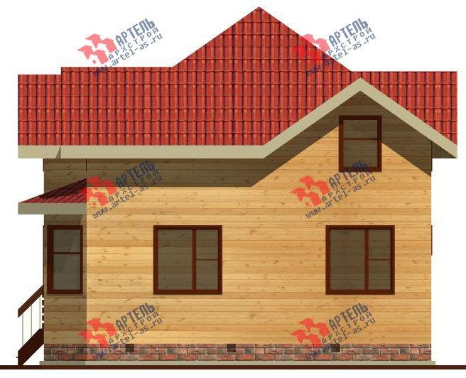 двухэтажный дом из бруса площадью от 100 до 150 кв. м. с  мансардой, эркером, проект Вариант 9 Г фотография 2203