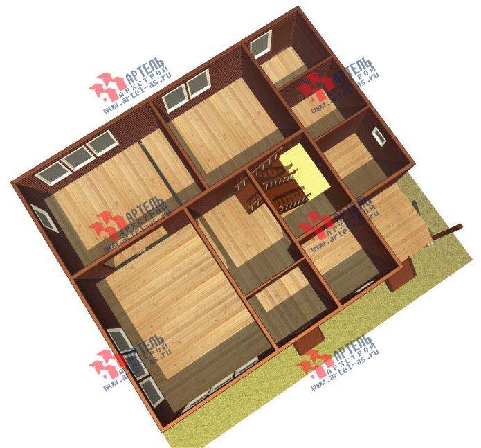 двухэтажный дом из бруса площадью от 150 до 200 кв. м. с  мансардой, проект Вариант 12.2 А фотография 2210