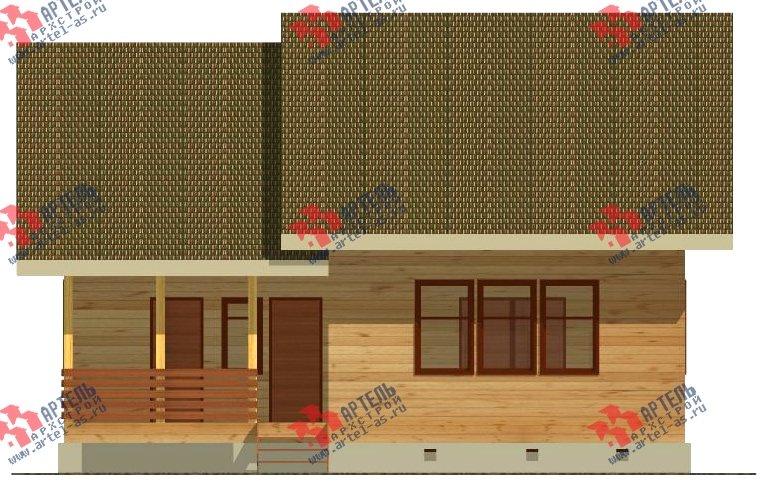 двухэтажный дом из бруса площадью свыше 200 кв. м. с  балконом, проект Вариант 10.7 А фотография 2247
