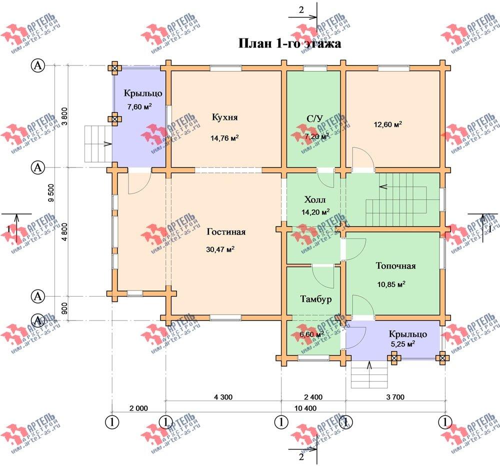 двухэтажный дом из бруса площадью свыше 200 кв. м. с  балконом, мансардой, проект Вариант 9.5 К-2 фотография 106