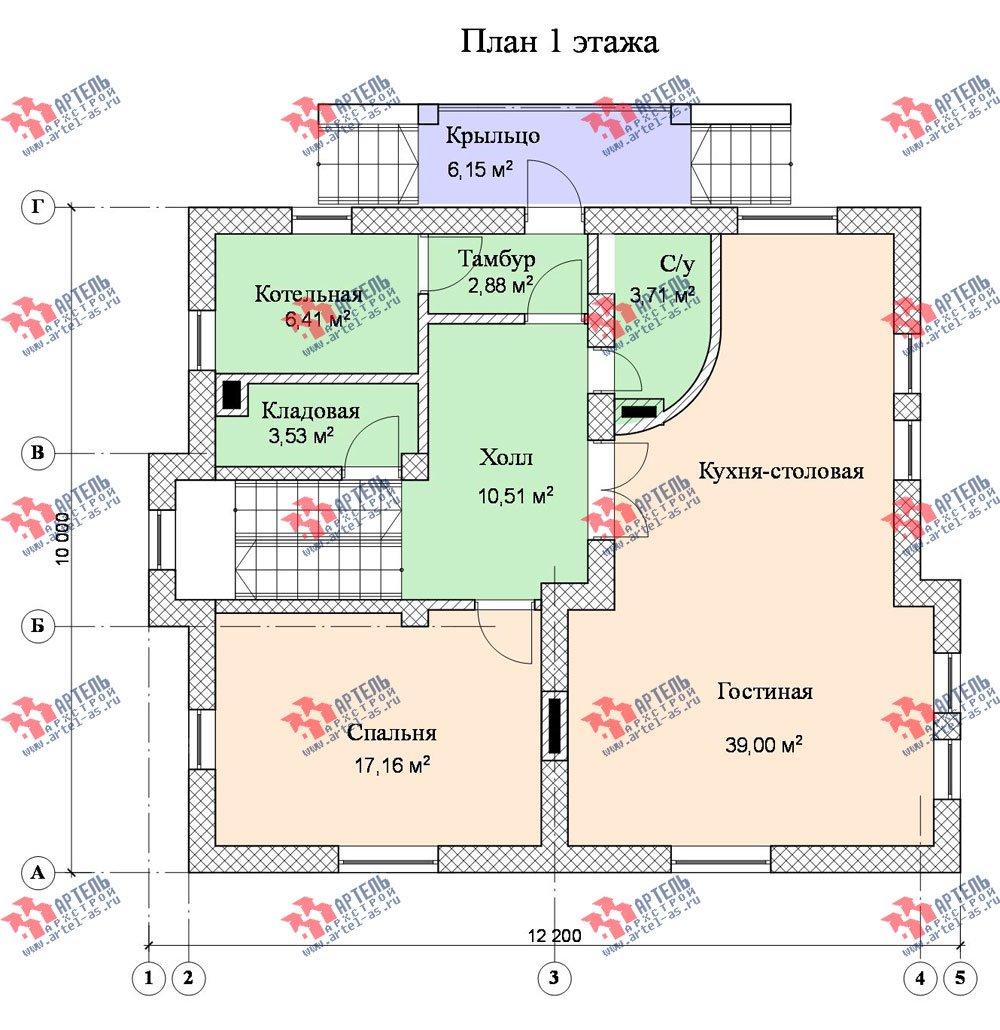 двухэтажный дом из камня площадью свыше 200 кв. м., проект Вариант 8 фотография 525