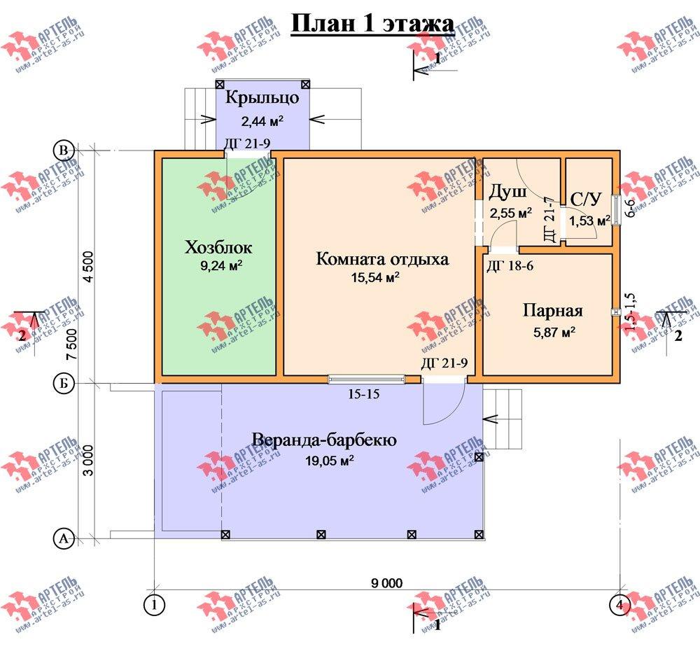 одноэтажный дом из профилированного бруса площадью до 100 кв. м., проект Вариант 5 фотография 1567
