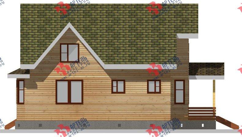 двухэтажный дом из бруса площадью от 150 до 200 кв. м. с  балконом, мансардой, террасой, эркером, проект Вариант 8 К-3 фотография 2464