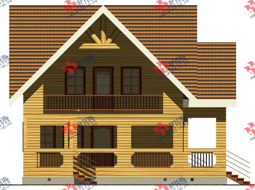 двухэтажный дом из бруса площадью свыше 200 кв. м. с  балконом, террасой, проект Вариант 8 Г-1 фотография 2489