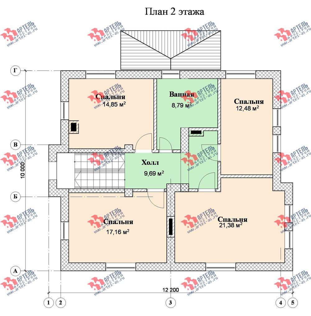 двухэтажный дом из камня площадью свыше 200 кв. м., проект Вариант 8 фотография 526