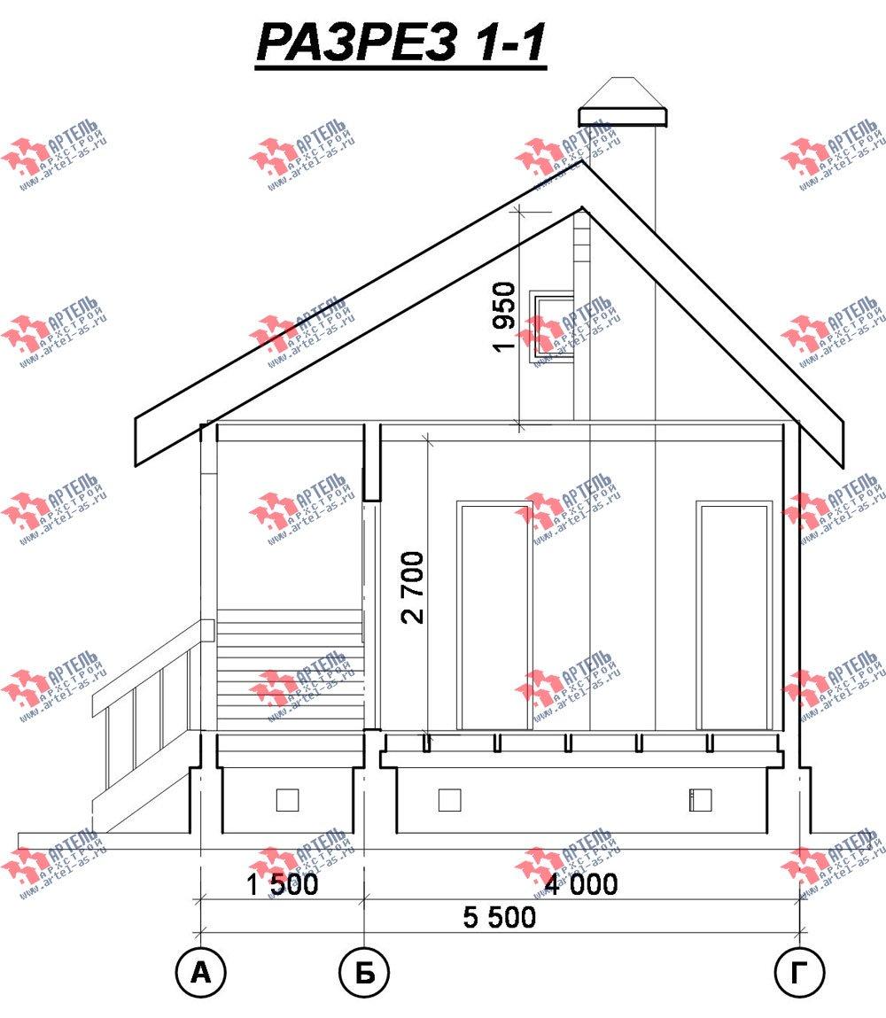 одноэтажный дом из профилированного бруса площадью до 100 кв. м., проект Вариант 1 фотография 1530