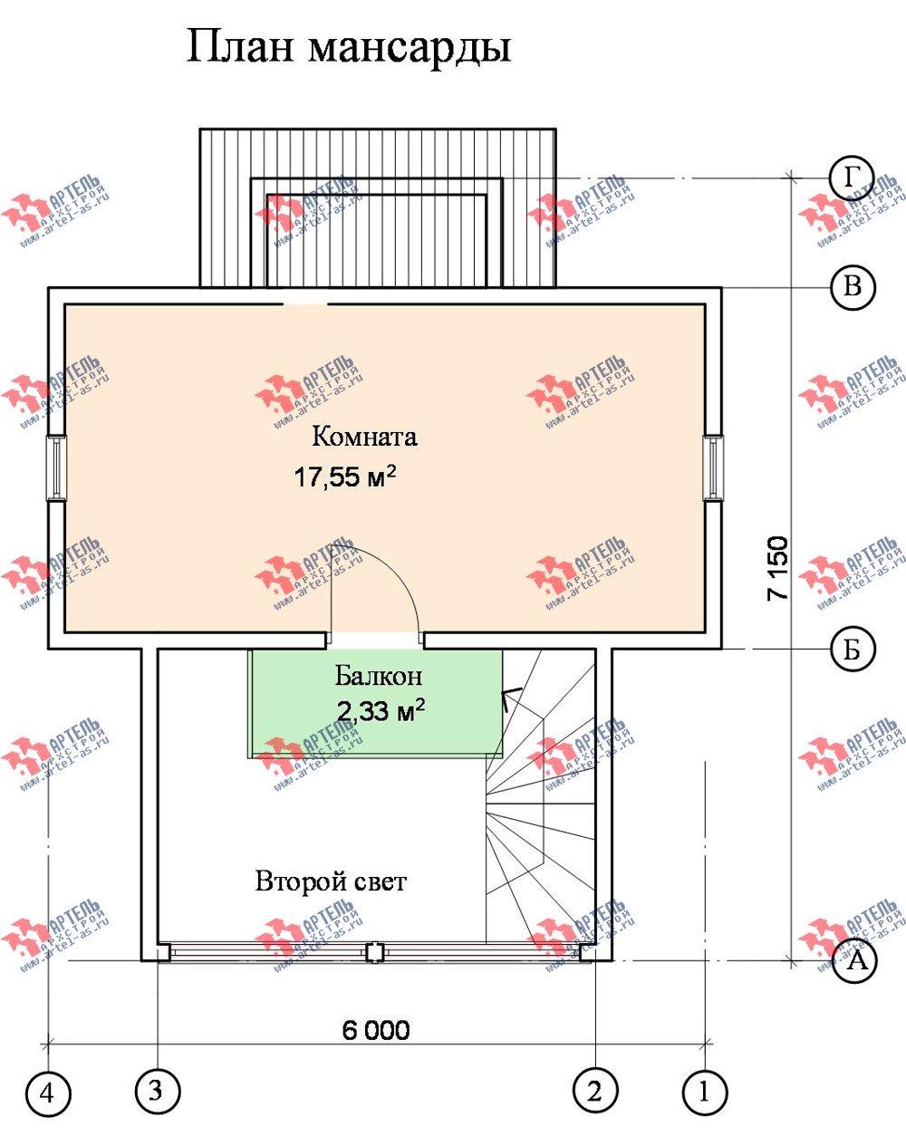 двухэтажный дом из профилированного бруса площадью до 100 кв. м., проект Вариант 3 фотография 1549
