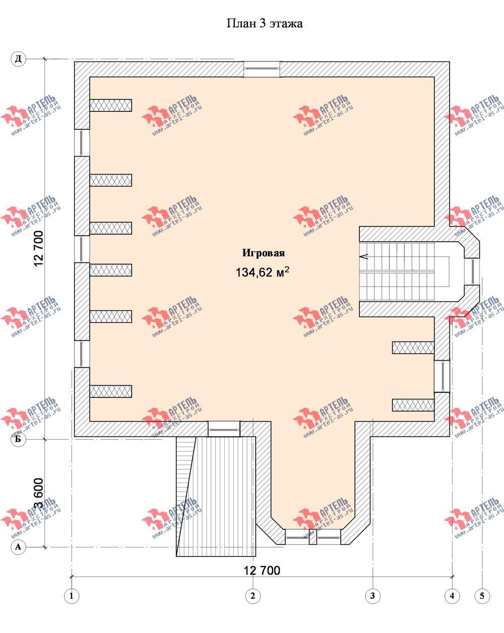 трёхэтажный дом из камня площадью свыше 200 кв. м. с  эркером, проект Вариант 20 фотография 654