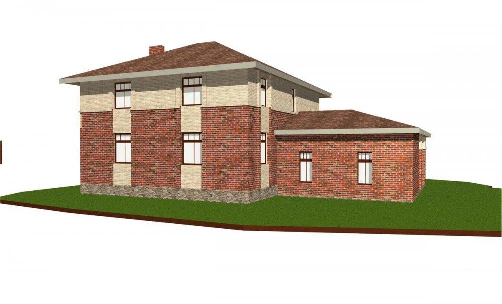 двухэтажный дом омбинированные дома площадью свыше 200 кв. м., проект Вариант 18,4А Камень и Комбинированный фотография 6070