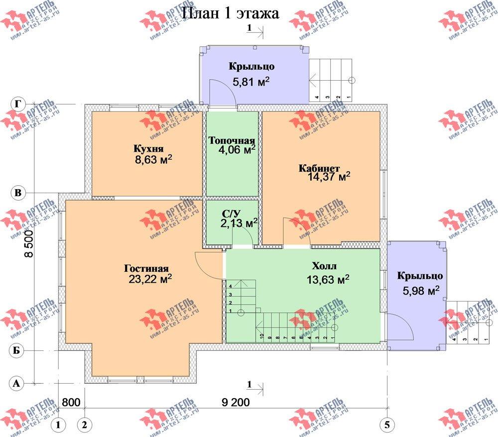 двухэтажный дом из бруса площадью от 100 до 150 кв. м. с  мансардой, проект Вариант 6 фотография 2793