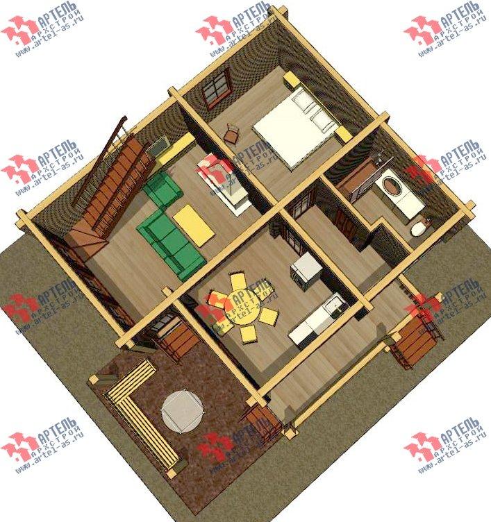 двухэтажный проект площадью от 100 до 150 кв. м. с  мансардой, террасой, проект Вариант 8.7 А фотография 3279