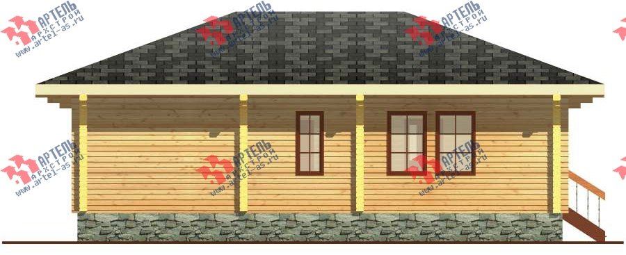 одноэтажный дом из бруса площадью до 100 кв. м. с  террасой, проект Вариант 7.8 А-1 фотография 3314
