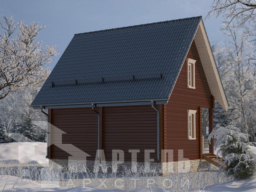 двухэтажный дом из профилированного бруса площадью до 100 кв. м. с  мансардой, проект Вариант 6 Д фотография 6573