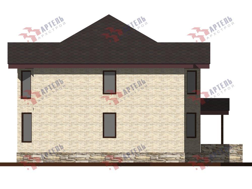 двухэтажный дом из камня площадью от 150 до 200 кв. м. с  террасой, эркером, проект Вариант 10,6К Каменный фотография 6246