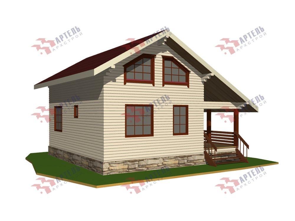 двухэтажный дом из профилированного бруса площадью от 100 до 150 кв. м. с  верандой, мансардой, эркером, проект Вариант 6 Л фотография 5890