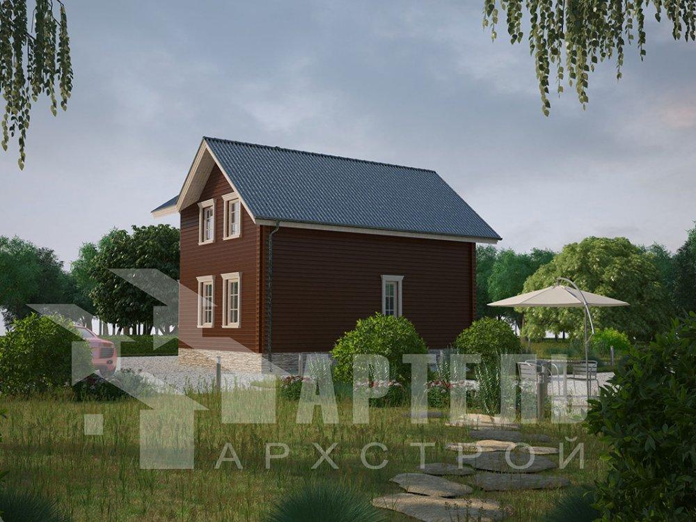 двухэтажный дом из профилированного бруса площадью от 100 до 150 кв. м. с  мансардой, эркером, проект Вариант 7.2 К фотография 4419