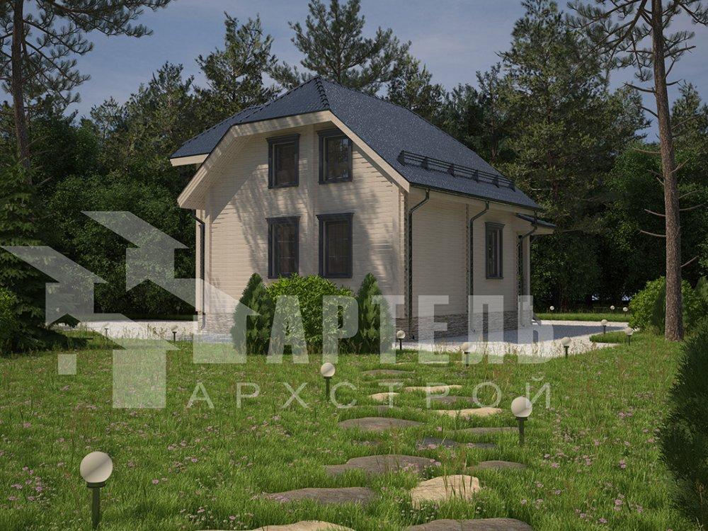 двухэтажный дом из профилированного бруса площадью от 100 до 150 кв. м. с  мансардой, эркером, проект Вариант 7.3 К фотография 4106