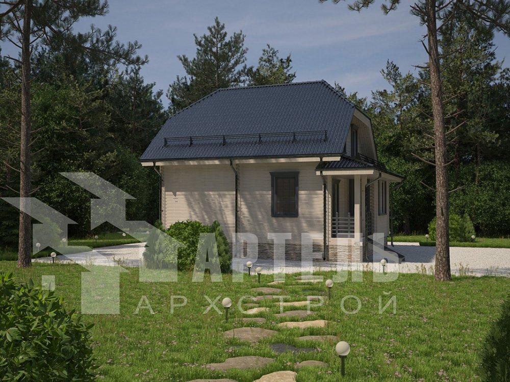 двухэтажный дом из профилированного бруса площадью от 100 до 150 кв. м. с  мансардой, эркером, проект Вариант 7.3 К фотография 4105