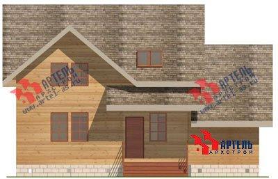 двухэтажный дом из бруса площадью от 150 до 200 кв. м. с  гаражом, мансардой, проект Вариант 8 О фотография 1197