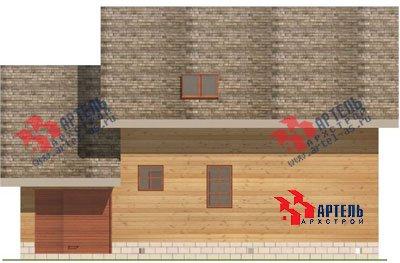 двухэтажный дом из бруса площадью от 150 до 200 кв. м. с  гаражом, мансардой, проект Вариант 8 О фотография 1199