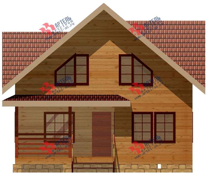 двухэтажный дом из профилированного бруса площадью от 100 до 150 кв. м. с  мансардой, террасой, проект Вариант 8.5 В фотография 981