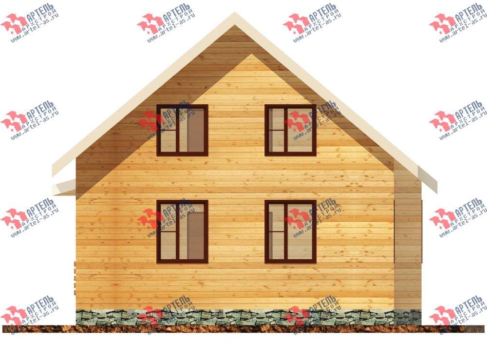 двухэтажный дом из бруса площадью от 100 до 150 кв. м. с  балконом, мансардой, террасой, эркером, проект Вариант 8.5 И фотография 1025