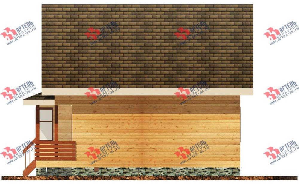 двухэтажный дом из бруса площадью от 100 до 150 кв. м. с  балконом, мансардой, террасой, эркером, проект Вариант 8.5 И фотография 1026