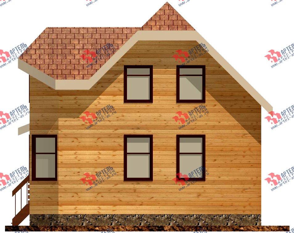 двухэтажный дом из профилированного бруса площадью до 100 кв. м. с  мансардой, эркером, проект Вариант 6.5 Е фотография 723