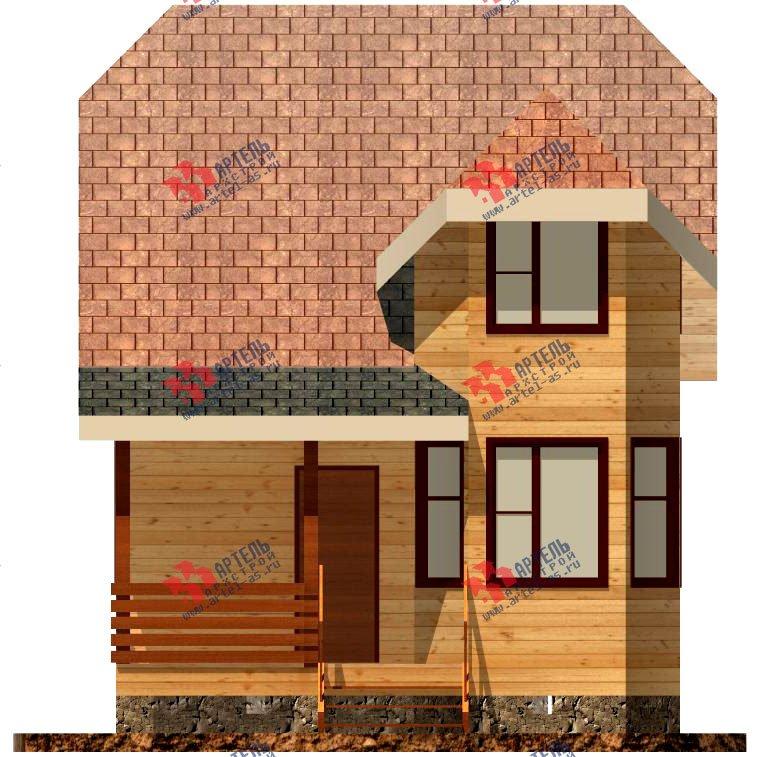 двухэтажный дом из профилированного бруса площадью до 100 кв. м. с  мансардой, эркером, проект Вариант 6.5 Е фотография 724
