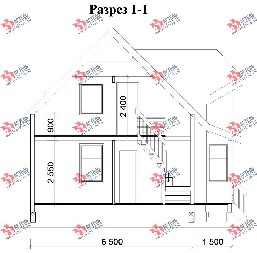 двухэтажный дом из профилированного бруса площадью до 100 кв. м. с  мансардой, эркером, проект Вариант 6.5 Е фотография 729