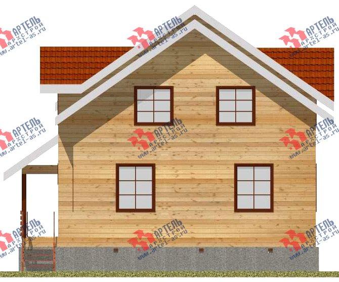 двухэтажный дом из бруса площадью от 150 до 200 кв. м. с  мансардой, проект Вариант 11 Л-2 фотография 3170