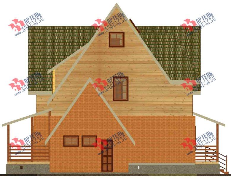 двухэтажный дом из камня площадью свыше 200 кв. м. с  террасой, проект Вариант 29 фотография 3182