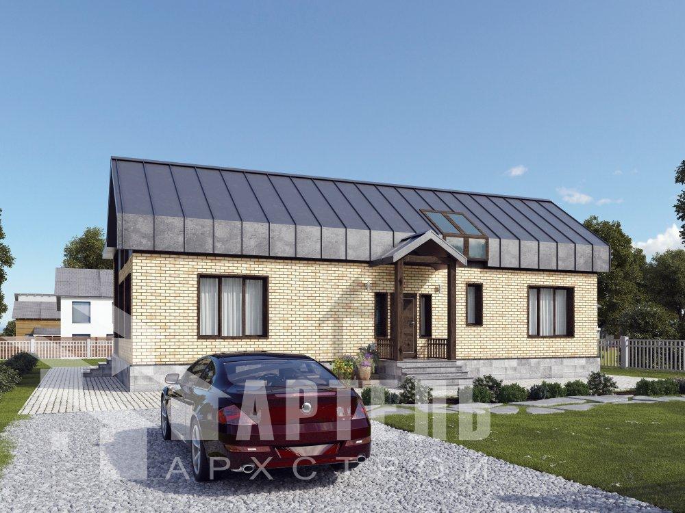 дом омбинированные дома, проект Вариант 14Т Камень и Комбинированный фотография 6345