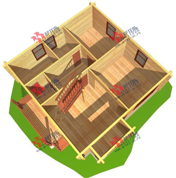 двухэтажный дом из профилированного бруса площадью от 100 до 150 кв. м. с  мансардой, эркером, проект Вариант 8 Т фотография 246