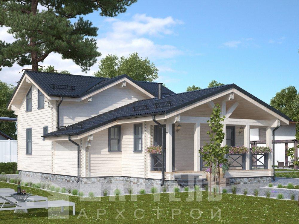 двухэтажный дом из профилированного бруса площадью от 100 до 150 кв. м., проект Вариант 13.3 А фотография 6582