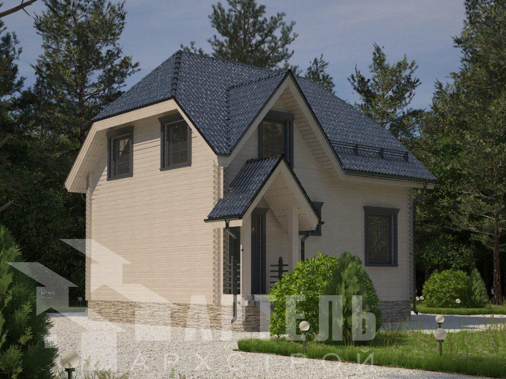 двухэтажный дом из профилированного бруса площадью до 100 кв. м. с  мансардой, эркером, проект Вариант 7 Г фотография 6598