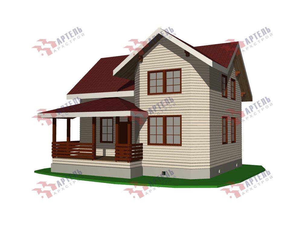 двухэтажный дом из профилированного бруса площадью от 100 до 150 кв. м. с  мансардой, эркером, проект Вариант 7.2 К фотография 5843