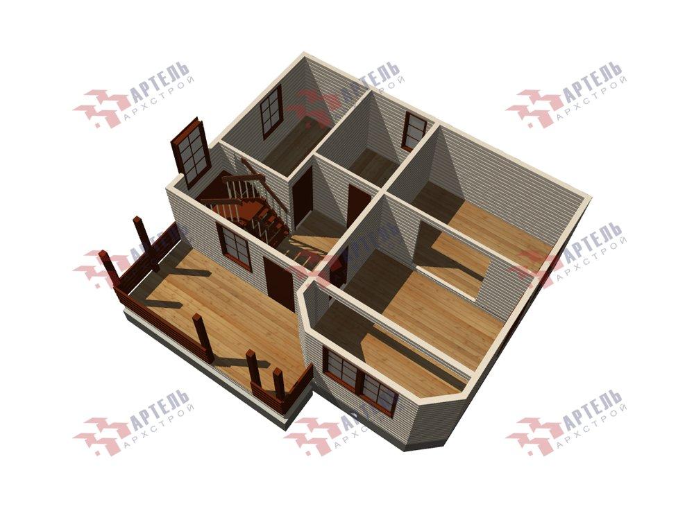 двухэтажный дом из профилированного бруса площадью от 100 до 150 кв. м. с  мансардой, эркером, проект Вариант 7.2 К фотография 5845