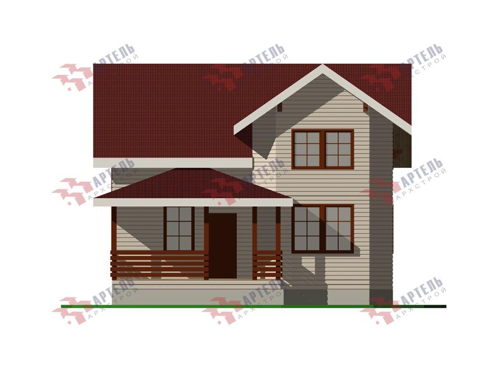 двухэтажный дом из профилированного бруса площадью от 100 до 150 кв. м. с  мансардой, эркером, проект Вариант 7.2 К фотография 5847