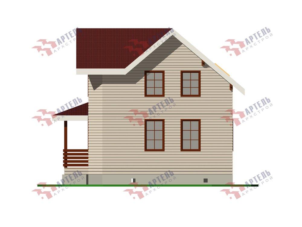 двухэтажный дом из профилированного бруса площадью от 100 до 150 кв. м. с  мансардой, эркером, проект Вариант 7.2 К фотография 5848