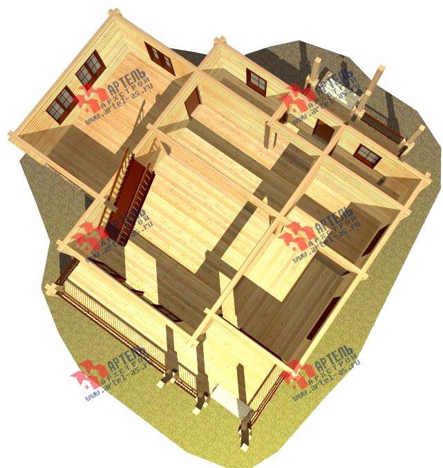 двухэтажный дом из профилированного бруса площадью от 150 до 200 кв. м. с  мансардой, террасой, проект Вариант 9.5 Т фотография 93