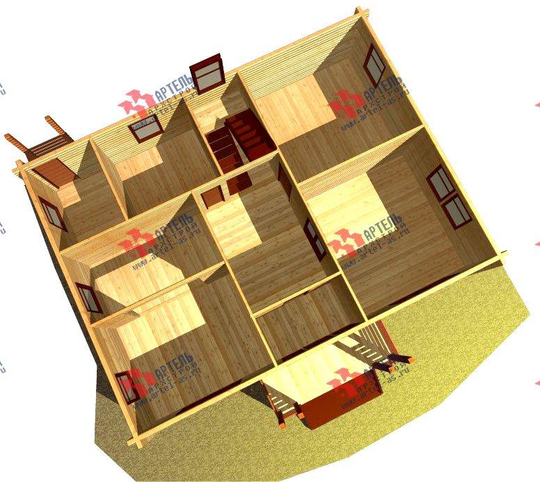 двухэтажный дом из профилированного бруса площадью свыше 200 кв. м. с  балконом, проект Вариант 9 Т фотография 421