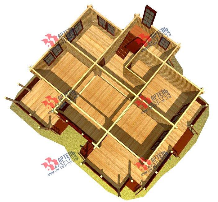 двухэтажный дом из профилированного бруса площадью свыше 200 кв. м. с  балконом, мансардой, террасой, эркером, проект Вариант 11 К фотография 433