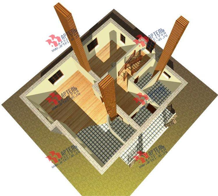 двухэтажный дом из камня площадью свыше 200 кв. м., проект Вариант 8 фотография 522