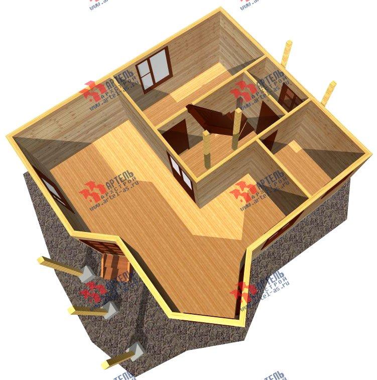 двухэтажный дом из профилированного бруса площадью до 100 кв. м. с  мансардой, эркером, проект Вариант 7 В фотография 802